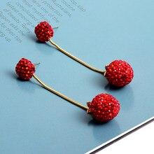 Boucles d'oreilles longues en cristaux pour femmes, accessoires de haute qualité, strass rouges, nouvelle collection, vente en gros