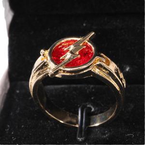 Coslive флэш сезон 5 Новинка флэш кольцо ювелирные изделия золото с красным кольцом Рождественский подарок аксессуары для косплея реквизит