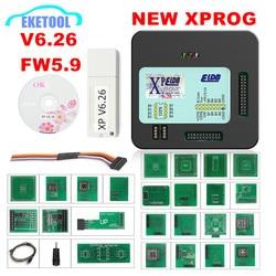 Najnowszy V6.26 XPROG V6.12 V5.84 V5.86 dodać więcej uprawnień XPROG-M 5.55 Xprog metalowe pudełko ECU Chip Tuning pełne adaptery
