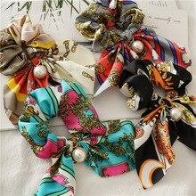 New Fashion Boho Chiffon Scrunchies for Woman Soft Silk Hair