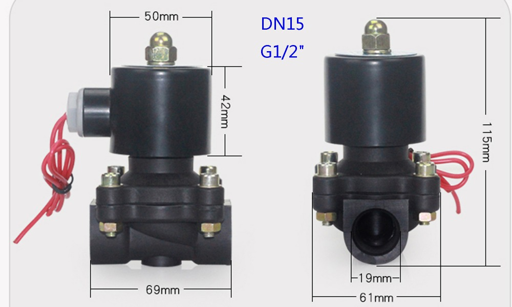 Hda4091caf23447dc86b034ad3ccac33aE - DN08/10/15/20/25/32/40/50   AC 110V AC 220V DC 12V DC 24V Plastic normally closed solenoid valve water valve switching valve