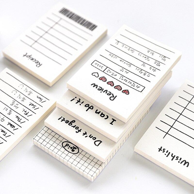 50 Sheet Weekly Schedule To Do Memo Pad Wishlist Grid Note Style Memo Pad Planner Scrapbooking Korean Stationary Supplies