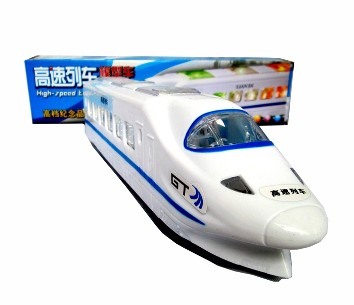 Universal Toy Car Electric Flash High-Speed Model Train Harmony CRH High-Speed Rail Train Stall Toy