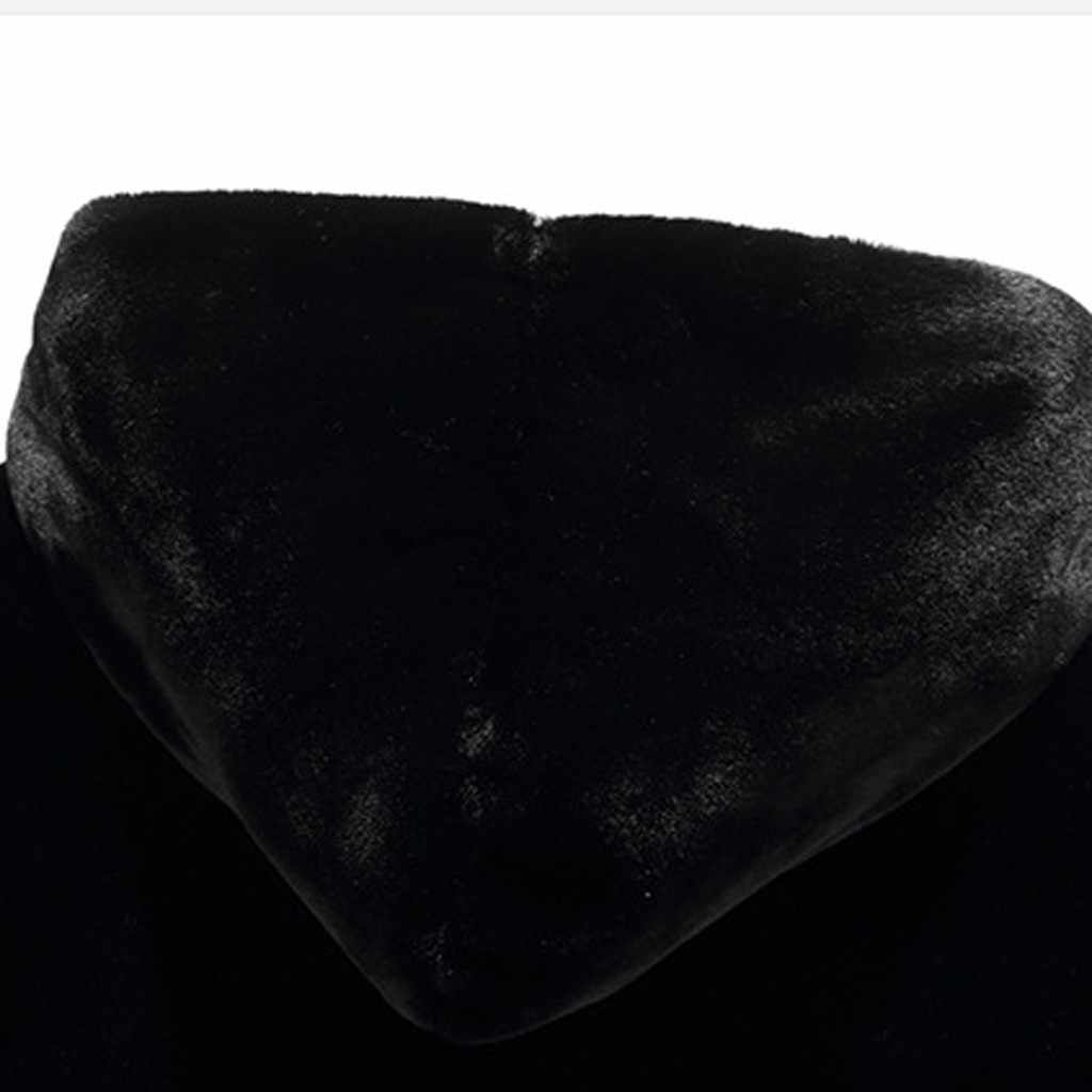 Baru Fashion Pria Musim Dingin Jaket Mantel Berkerudung Hangat Fashion Musim Dingin Hangat Pria Tebal Mantel Mantel Jaket Faux Bulu Lebih Tahan Dr jaket