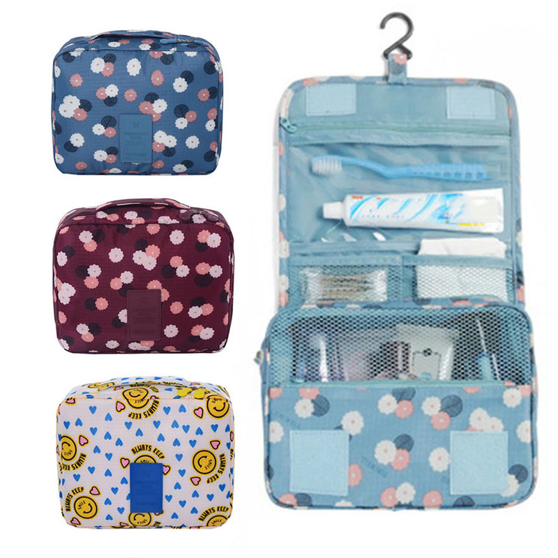 Fashion Travel Nylon Beauty Makeup Bags Water-proof Cosmetics Bags Bathroom Organizer Of Women Portable Bath Washing Up Bag