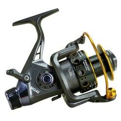 Рыболовная катушка, двойная тормозная Передняя и задняя катушка для ловли карпа, рыболовная Катушка для спиннинга, рыболовные снасти для ка...