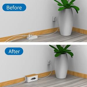 Image 5 - NTONPOWER منظم الكابلات صندوق الصلب قلم بلاستيكي للمكتب إدارة الكبلات صندوق مع حامل غطاء لون الخشب للمنزل كابل اللفاف التخزين