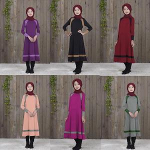 Image 1 - Muslim Long Sleeve Dress For Girl Child Kid Abaya Islamic Dubai Arabic Robe Gowns Traditional Clothing