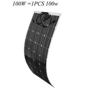 Image 4 - ערכת פנל סולארי 100W 200W אנרגיה סולארית מערכת מלא ערכות מונו תאים סולריים רכב סירת בית גג קמפינג 12V24V סוללה תשלום