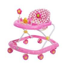 Младенческий ребенок ходунки 6/7-18 месяцев анти-падение Многофункциональный скутер с музыкальной игрушкой автомобиль
