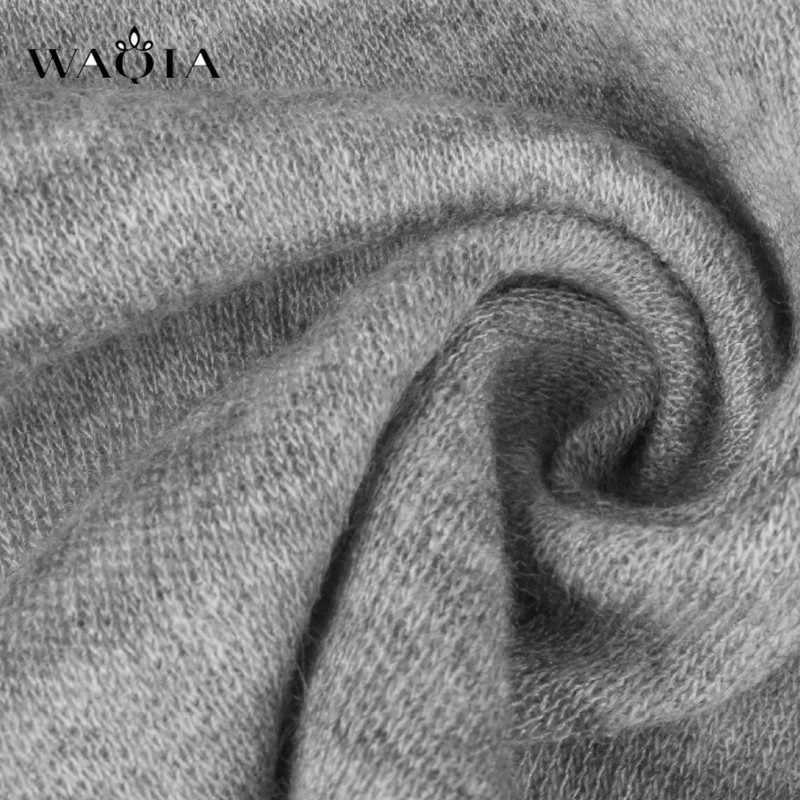 נשים סתיו החורף ארוך שרוול סוודר שמלת אופנה מזדמן גולף סרוג שמלות בתוספת גודל צד פיצול Loose מיני שמלה