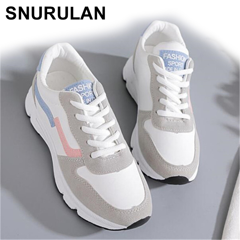 SNURULAN 2019 New Women's Sneakers; Spring Season; Vulcanized Shoes; Women's Casual Shoes; Lightweight Breathable Flat Shoes