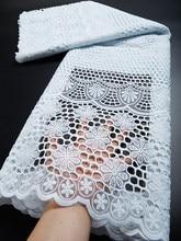 Swiss voile rendas na suíça bordado tecido de renda africano branco puro algodão renda para casamento vestido festa ty010