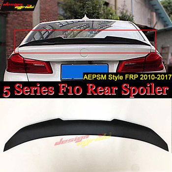 F10 Rear Spoiler Wing Tail FRP Unpainted PSM Style Fits For BMW 5-Series 520i 525i 528i 530 535i Rear Trunk Spoiler Wing 2010-17