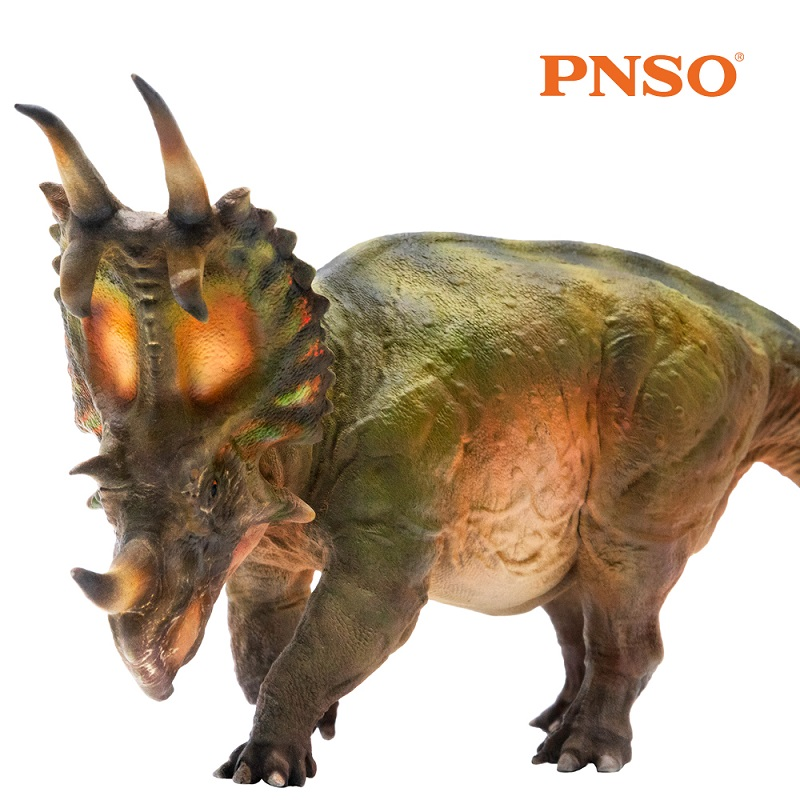 PNSO Dinosaurios Duke the Spinops Sternbergorum Prehistoric Animal Figure Model Dinosaur Doll Classict Toys For Children pnso spinops