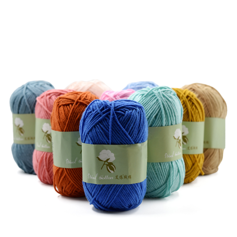 100% Cotton Threads For Knitting Yarn Soft Skin-friendly Hand Knitting Baby Available 50 Grams Lanas Para Tejer A Crochet