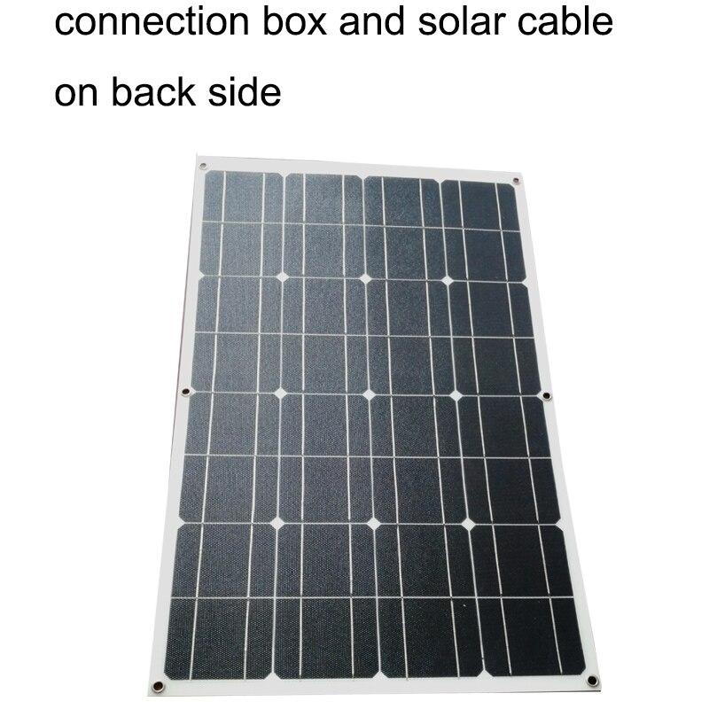 1 pièces blanc ETFE 100W flexible panneau solaire 18V en cellules de contact arrière avec revêtement ETFE durable-in Cellules photovoltaïques from Electronique    2