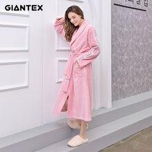 GIANTEX femmes salle de bain serviettes de bain pour adultes peignoir pyjamas corps Spa Robe de bain serviette de bain toalhas de banho