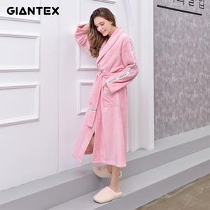 Image 1 - GIANTEX femmes salle de bain serviettes de bain pour adultes peignoir pyjamas corps Spa Robe de bain serviette de bain toalhas de banho