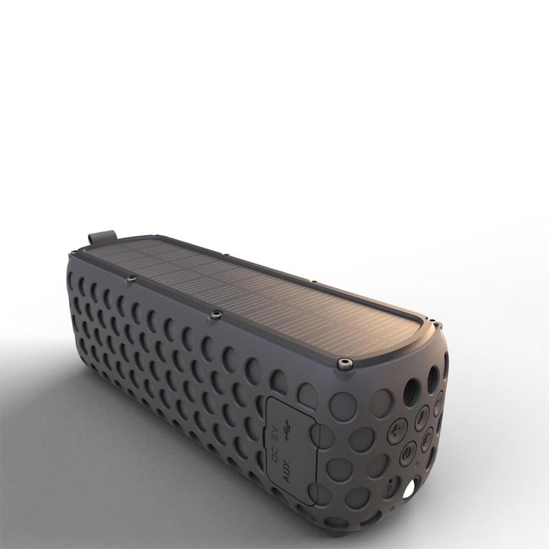 Altavoz Solar portátil Bluetooth con luz LED y micrófono incorporado Compatible con iPhone Samsung y dispositivos inteligentes IPX5 a prueba de agua - 2