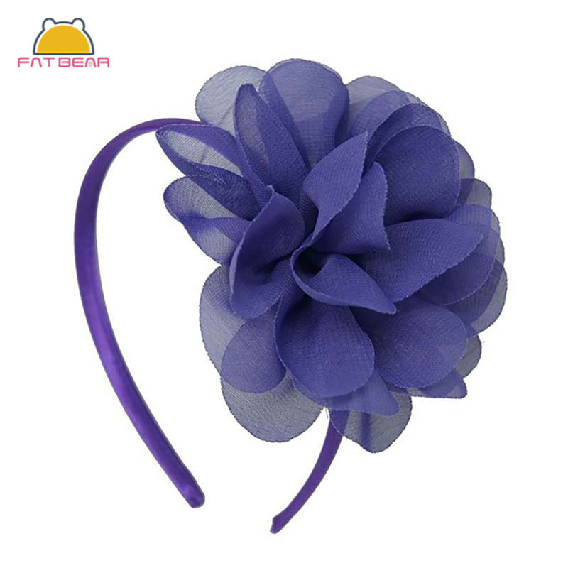 Shabby Chiffon Flowers Hair Bands For Children High Quality Headband For Girls Big Flower Hair Bow Headwear Hair Accessories