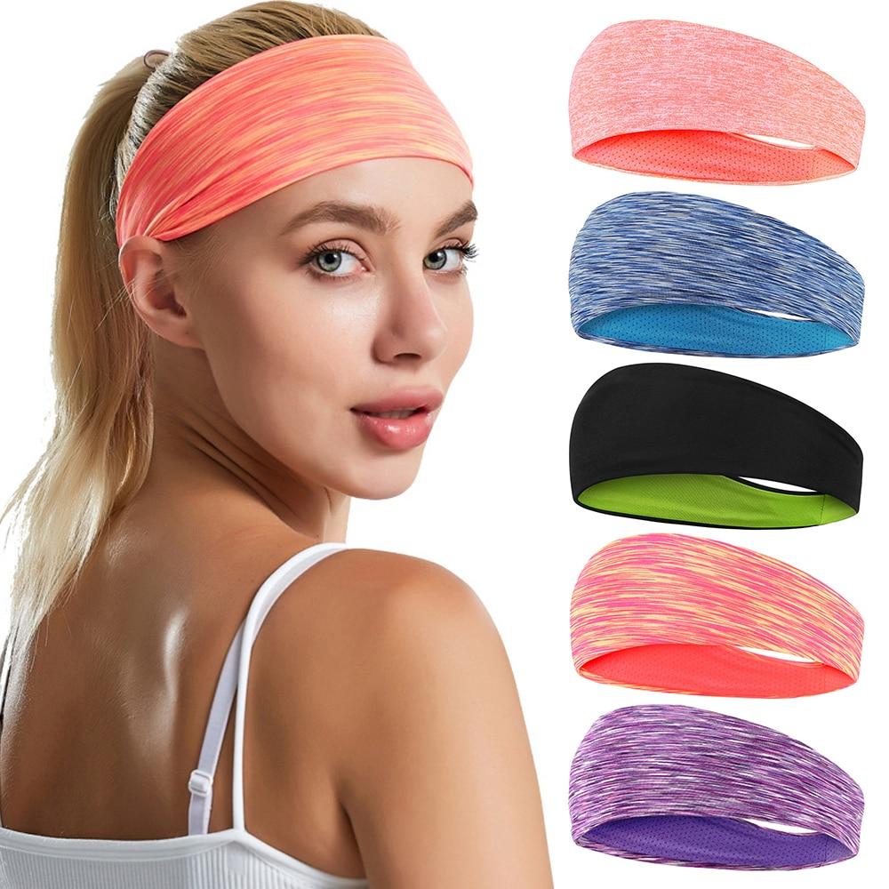 2021 Новый Для женщин/мужские эластичные Йога повязка на голову спортивный Напульсник для бега Спортивная резинка для волос, тюрбан на открыт...
