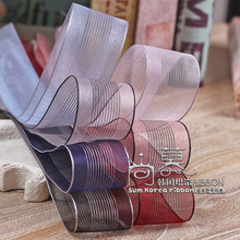 100yards 10 16 25 38mm mesh edge hollow-out stripes organza sheer ribbon for girl hair bow diy accessories hand craft supplies