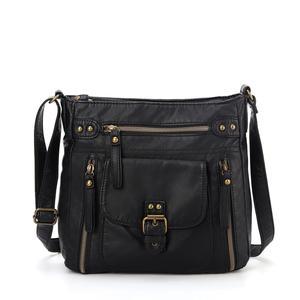KL928 новые модные женские сумки через плечо, мягкая сумка через плечо с несколькими карманами и кружевной крышкой KE2053