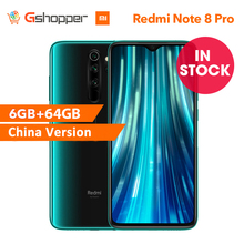 "CN sürüm Xiaomi Redmi not 8 Pro 6GB 64GB Smartphone 64MP dört kamera 6.53 ""Helio G90T Octa çekirdek 4500mAh pil NFC"