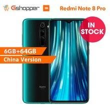 """Cn versão xiaomi redmi nota 8 pro 6 gb 64 gb smartphone 64mp quad câmera 6.53 """"helio g90t octa núcleo 4500 mah bateria nfc"""