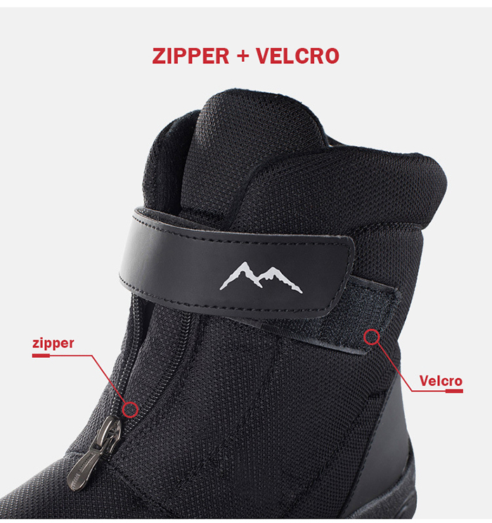 Men Boots 2020 Winter Boots Men Snow Boots non-slip Winter Shoes thick fur boots for man size 36 - 46