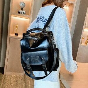 Image 3 - Wysokiej jakości plecak w stylu Retro kobiet plecak torba na ramię londyn styl nastoletnia dziewczyna tornister Mochilas kobiet plecak studencki