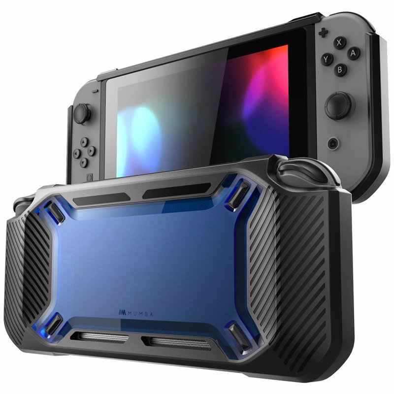 Rugged Case For Nintendo Switch 2017 Release MUMBA Heavy Duty Slim Rubberized Snap on Hard Cover Case