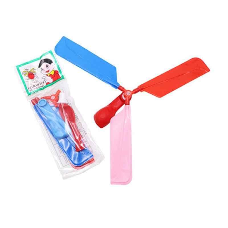 1 セット古典的なバルーン飛行機ヘリコプター子供のおもちゃアウトドアスポーツ玩具キッズ子供玩具ギフト屋外おもちゃ