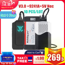 CDP TCS, lecteur de code pour véhicule et camion, outil de Diagnostic de voiture et de camion, lecteur de code Multidiag, Bluetooth 2016.00, prise OBD2, 10 pièces/lot