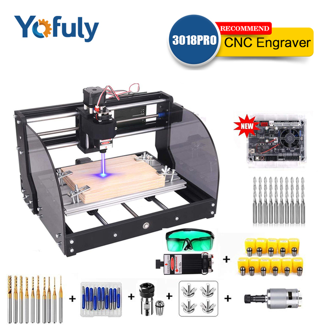 CNC 3018 Pro Max ER11 Laser Engraver PCB Milling Machine CNC Router Engraving Machine GRBL With 15w DIY Laser Machine