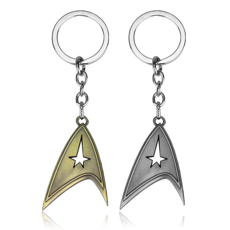 New 2 Colors Science fiction film star treks wars keychain early generation of captain logo amulet badge car keyring chaveiro image