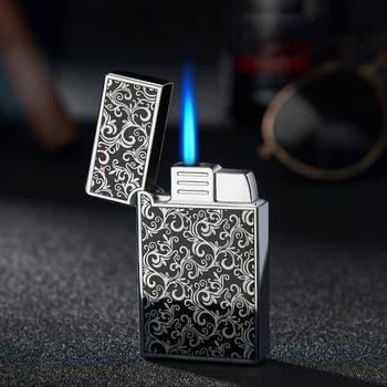 Windproof Gas Jet Lighter Butane Turbo Torch Lighter For Cigar Cigarette Metal 1300 C Blue Fire Lighter Cigarette Accessories недорого