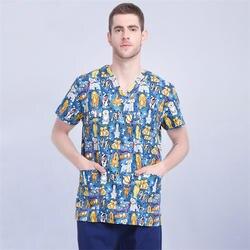 Хлопковый костюм медика лабораторная Униформа медицинская форма Женская милая Одежда для собак медсестры униформа медицинская униформа