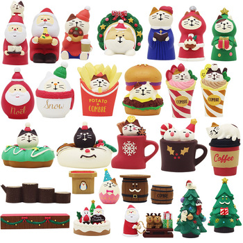 2020 cute beautiful lovely pet dog cat choir santa claus coffee cake store family Christmas ornaments figures decoration image