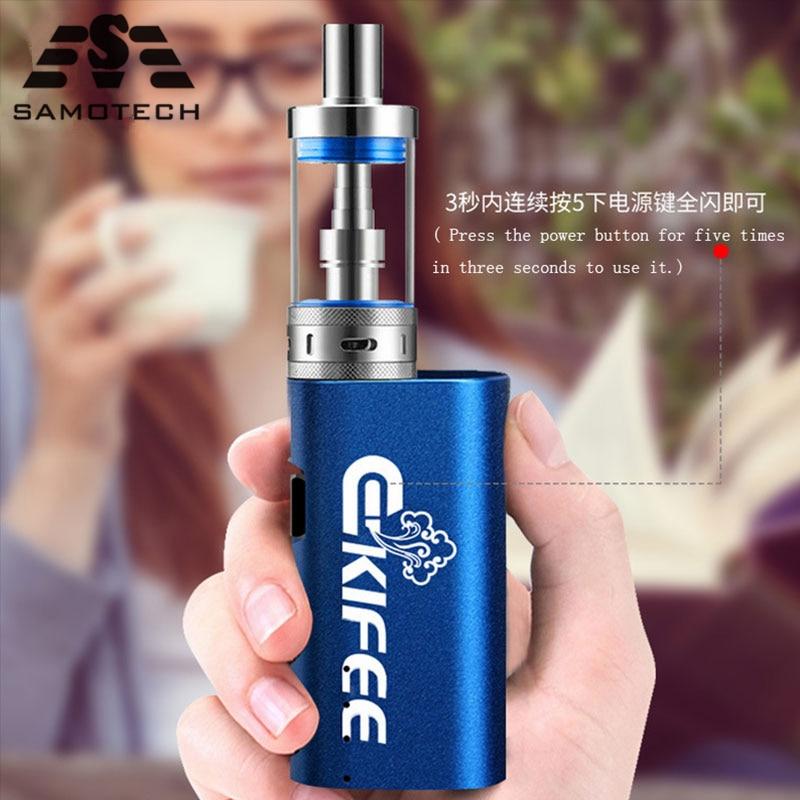 Ekifee TC 40W Box Mod Vape Kit With 2200mah Battery 3ml 510 Thread VS Ht 50 100 Jsld BIG BOX 80w Electronic Cigarette Vaper