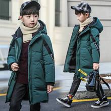 소년을위한 겨울 두꺼운 Windproof 따뜻한 코트 어린이 겉옷 아이 옷 소년 재킷 플러스 4 15 년 동안 두꺼운 십대