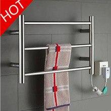 Горячая полотенцесушитель, нержавеющая сталь Электрический Полотенцесушитель держатель аксессуары для ванной комнаты настенный