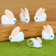 12pcs plastic push pins Cute kawaii Bunny thumbtacks decorative thumb tacks Creative modeling cork board photo wall map pins(China)