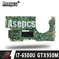 Asepcs K501UX материнская плата для ноутбука For Asus K501UX K501UB K501U K501 тестовая оригинальная материнская плата DDR3 4G RAM I7-6500U GTX950M EDP
