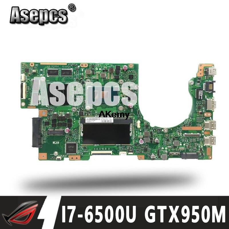 Asepcs K501UX carte mère d'ordinateur portable pour ASUS K501UX K501UB K501U K501 Test carte mère d'origine DDR3 4G RAM I7-6500U GTX950M EDP