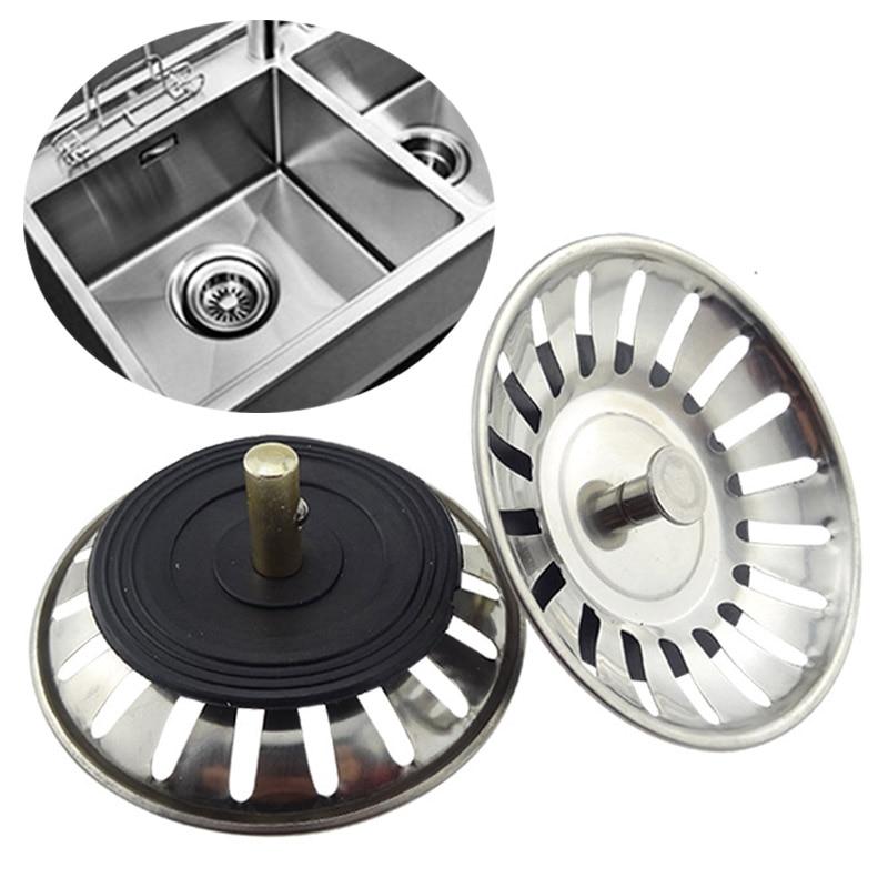 Stainless Steel Sink Filter Kitchen Supplies Hair Catcher Kitchen 1PC Stopper Hot Sale Bathroom Sink Strainer Lavabo