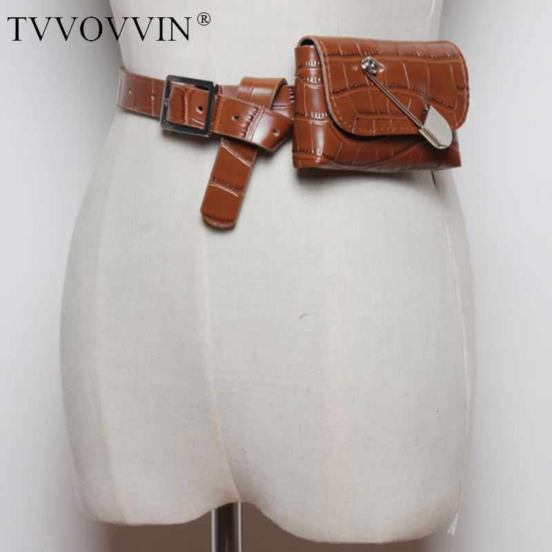 TVVOVVIN Vintage Women Cummerbunds Fashion New 2019 Autumn Wild Detachable Mini Personality Pouch Elegant Cummerbunds L548