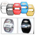4pcs Stainless steel car door lock buckle color door lock decorative cover sticker for Chevrolet Colorado Cruze Spark Captiva