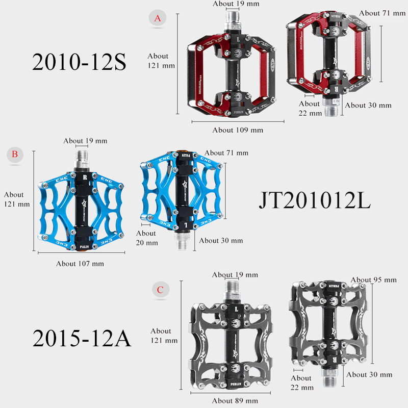 ROCKBROS P/édale VTT V/élo Route 9//16 Paire P/édale Durable CNC en Alliage Aluminium 4 roulements P/édale Plate